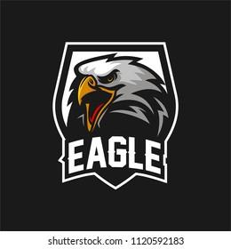 eagle/falcon/hawk esport gaming mascot logo template