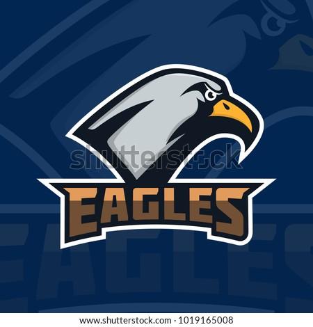 Eagles Emblem Template Eagle Head Sport Stock Vector