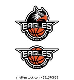 Eagle's head logo for a basketball team. Vector illustration.