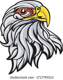 Eagles head logo mascot emblem