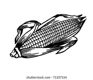 Ear Of Corn - Retro Ad Art Illustration