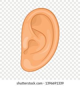 Ear icon. Cartoon illustration of ear vector icon for web design