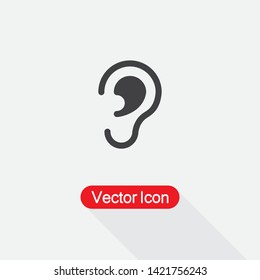 Ear Icon, Hearing Icon Vector Illustration Eps10