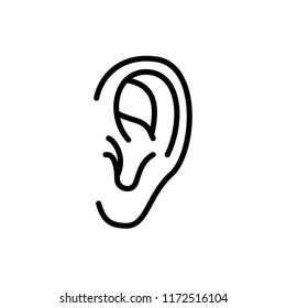 Ear  Icon Outline Vector