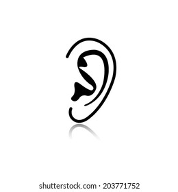 Ear icon with shadow