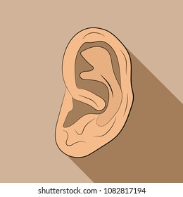 the ear icon vector drawing illustration