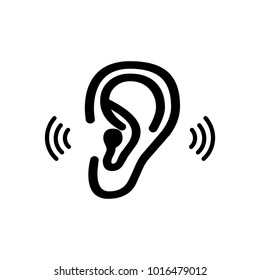 Ear icon. Vector illustration