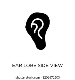 Ear lobe side view icon. Ear lobe side view symbol design from Human Body Parts collection.