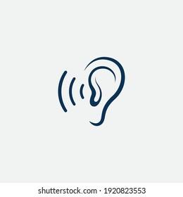 ear Logo Template vector icon