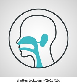 ear nose and throat logo vector