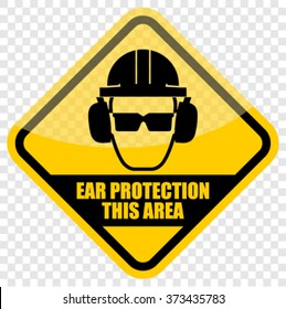 Ear safety warning sign