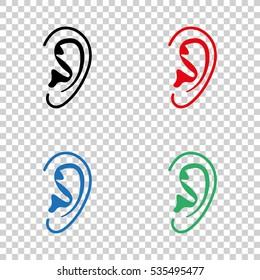 Ear  - vector icon