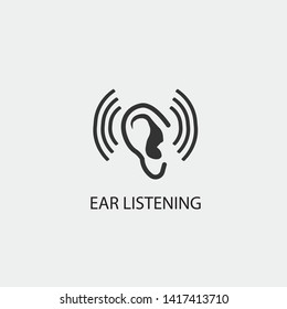 Ear vector icon icon illustration sign