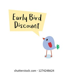 early bird discount message