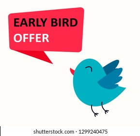 Early Bird OFFER sale event banner or poster