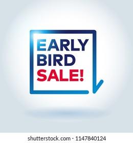 EARLY BIRD SALE arrow label.