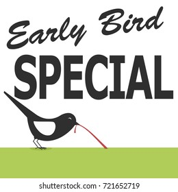 early bird special discount poster design