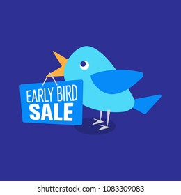 Early Bird Special discount sale event banner or poster