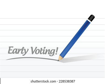 early voting message illustration design over a white background