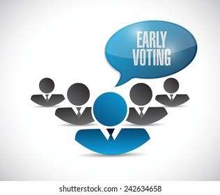 early voting teamwork illustration design over a white background