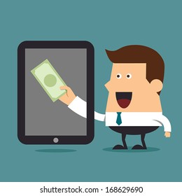 Earn money online, Business concept