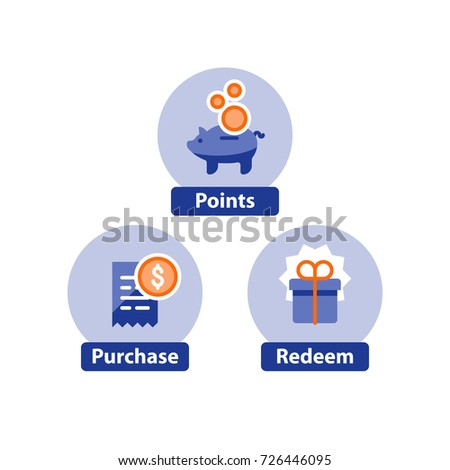 earn points purchase concept loyalty program のベクター画像素材