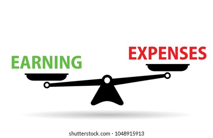 earning vs expenses scales