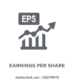Earnings per share (EPS) icon. Earnings per share (EPS) design concept from Earnings per share (EPS) collection. Simple element vector illustration on white background.