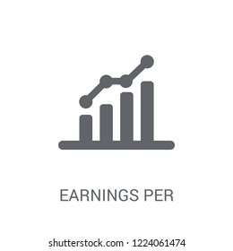 Earnings per share (EPS) icon. Trendy Earnings per share (EPS) logo concept on white background from business collection. Suitable for use on web apps, mobile apps and print media.
