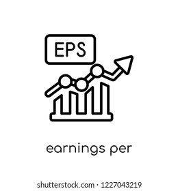 earnings per share (eps) icon. Trendy modern flat linear vector earnings per share (eps) icon on white background from thin line Earnings per share (EPS) collection, outline vector illustration