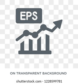 Earnings per share (EPS) icon. Earnings per share (EPS) design concept from Earnings per share (EPS) collection. Simple element vector illustration on transparent background.