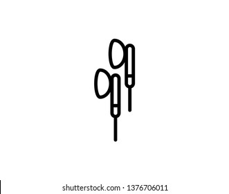 Earphone Icon Logo Vector Symbol. Earbuds Icon - Vector
