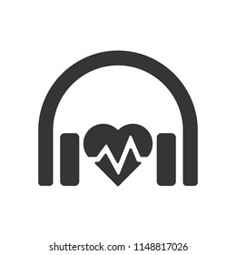 Earphone logo. Headphone logo. Headset Symbol. Vector eps 08.