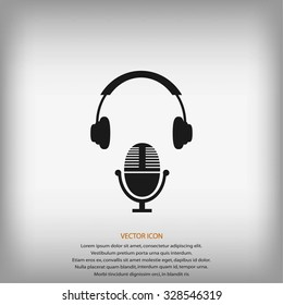 earphone and microphone icon
