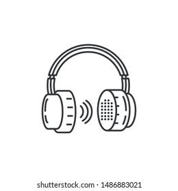 earphones audio device technology vector ilustration