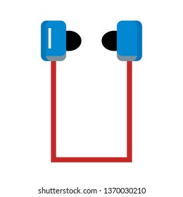 Earphones, Simple  Earphones, Sounds, Music Flat Style Icon Vector -
