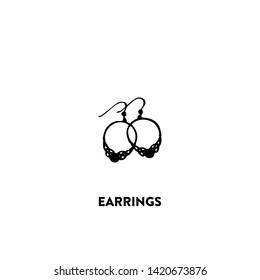 earrings icon vector. earrings sign on white background. earrings icon for web and app