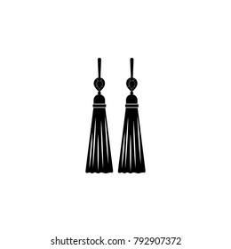 earrings tassels icon. Jewelry Icon. Premium quality graphic design. Signs, outline symbols collection, simple icon for websites, web design, mobile app on white background