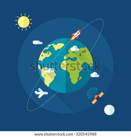 earth banner sun moon stars space のベクター画像素材 ロイヤリティ