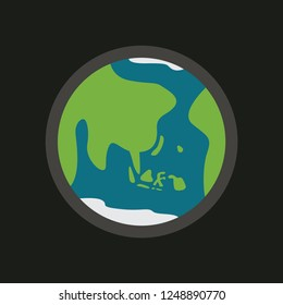 earth bumi vector icon with indonesian and asian map