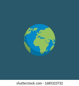 earth colorful icon .Conceptual vector illustration in flat style design.Isolated on background.