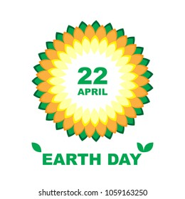 b075e051 Earth Day. 22 April. Vector illustration multicolor with leaves. Templates  for poster,