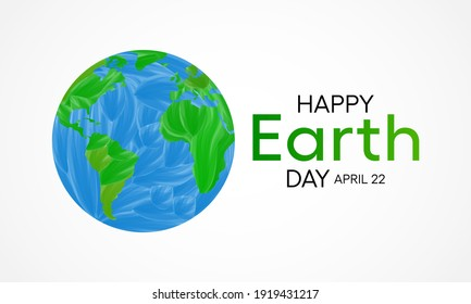Earth Day is an annual event celebrated around the world on April 22nd to demonstrate support for environmental protection. Vector illustration.