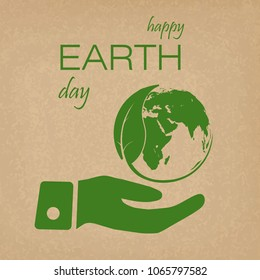 Earth day background concept. Vector.