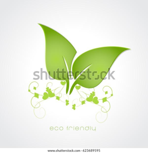 Earth day , eco flyer ,eco friendly vector .