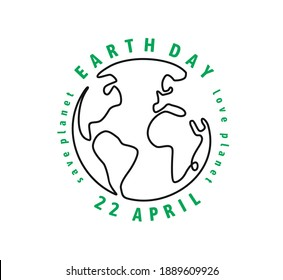 Earth Day Globe with text