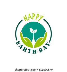 Earth day logo designs and element or background