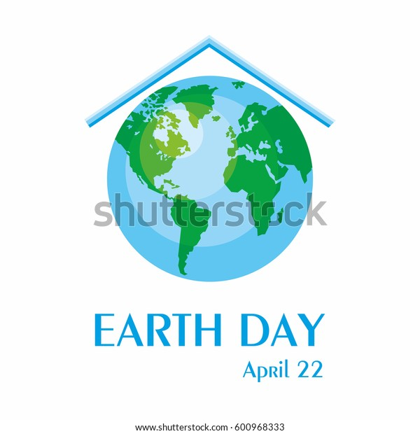 Earth day. A poster with a picture of the planet.
