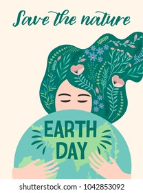 Earth Day. Vector illustration for poster, card, flyer, banner and other use.