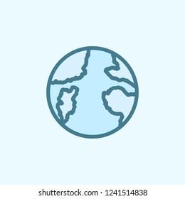 Earth field outline icon. Element of 2 color simple icon. Thin line icon for website design and development, app development. Premium icon